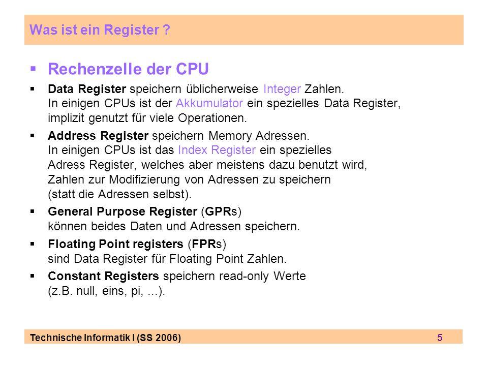 Rechenzelle der CPU Was ist ein Register