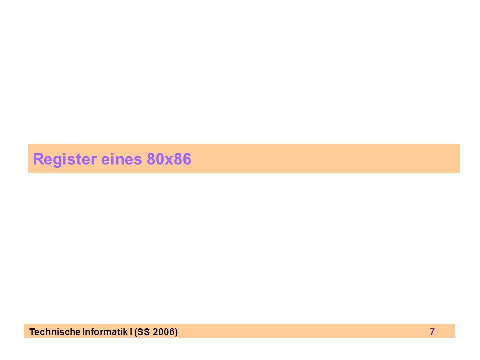 Register eines 80x86