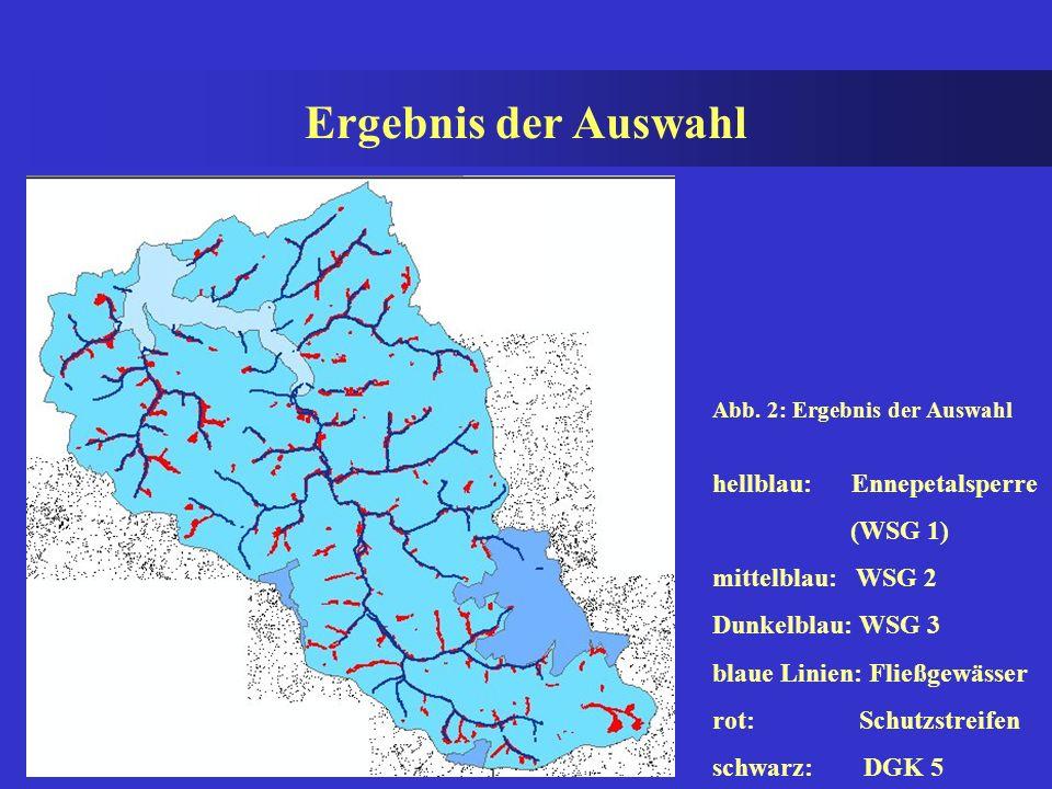 Ergebnis der Auswahl hellblau: Ennepetalsperre (WSG 1)