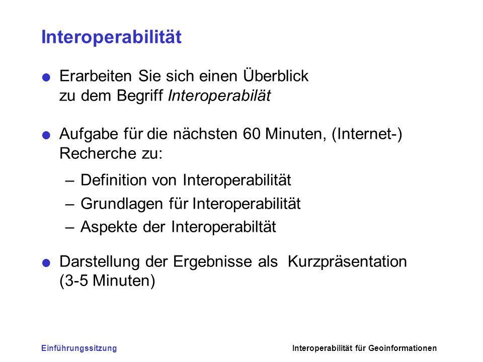 Interoperabilität Erarbeiten Sie sich einen Überblick zu dem Begriff Interoperabilät.