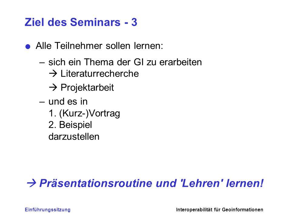  Präsentationsroutine und Lehren lernen!