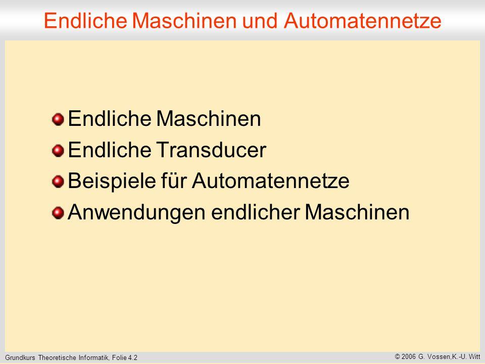 Endliche Maschinen und Automatennetze