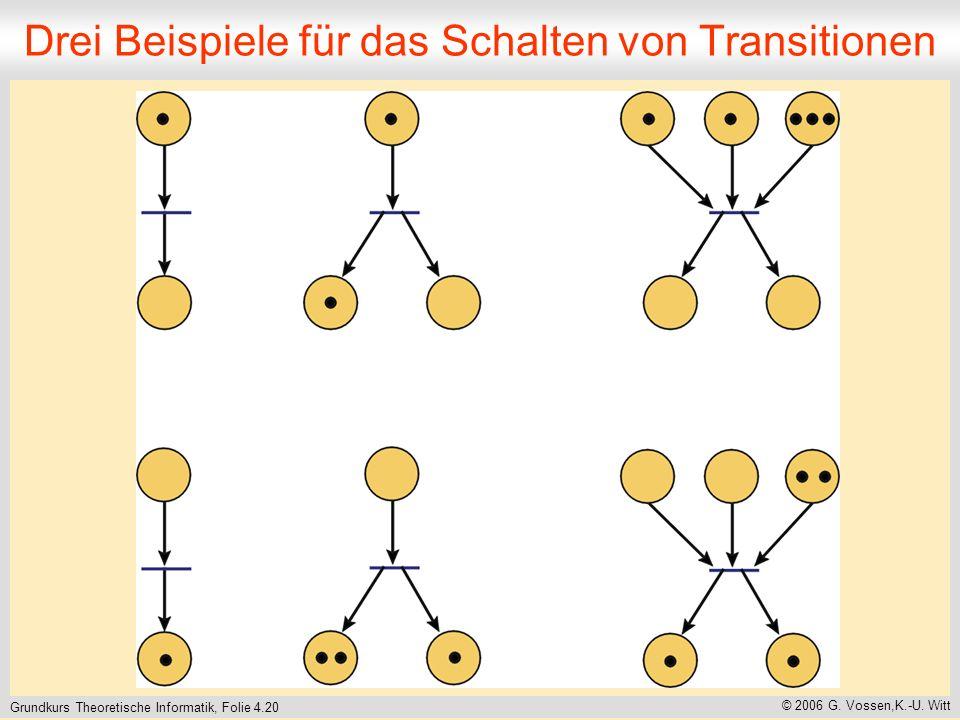 Drei Beispiele für das Schalten von Transitionen