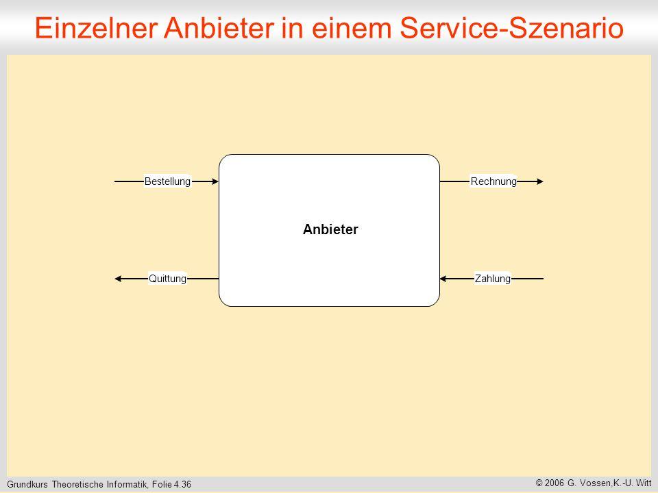 Einzelner Anbieter in einem Service-Szenario