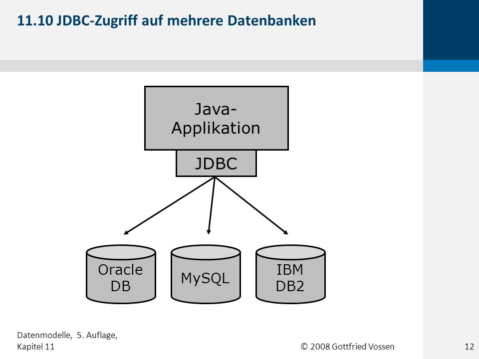 11.10 JDBC-Zugriff auf mehrere Datenbanken