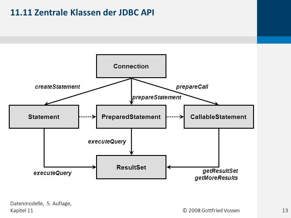 11.11 Zentrale Klassen der JDBC API