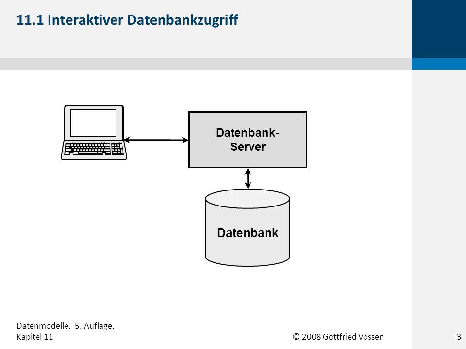 11.1 Interaktiver Datenbankzugriff