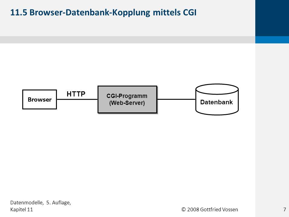 11.5 Browser-Datenbank-Kopplung mittels CGI