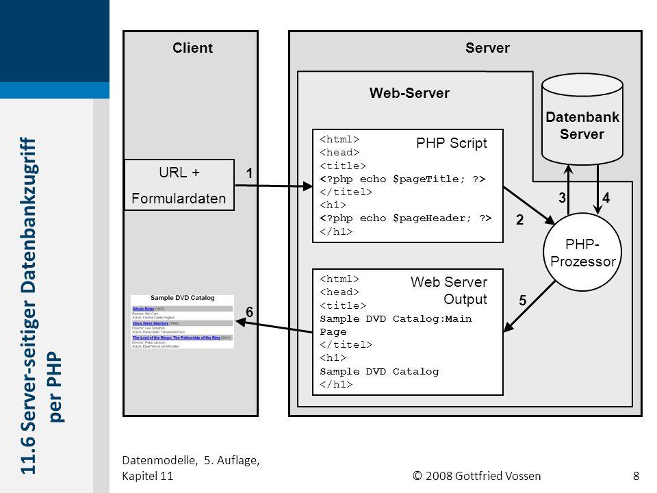 11.6 Server-seitiger Datenbankzugriff per PHP