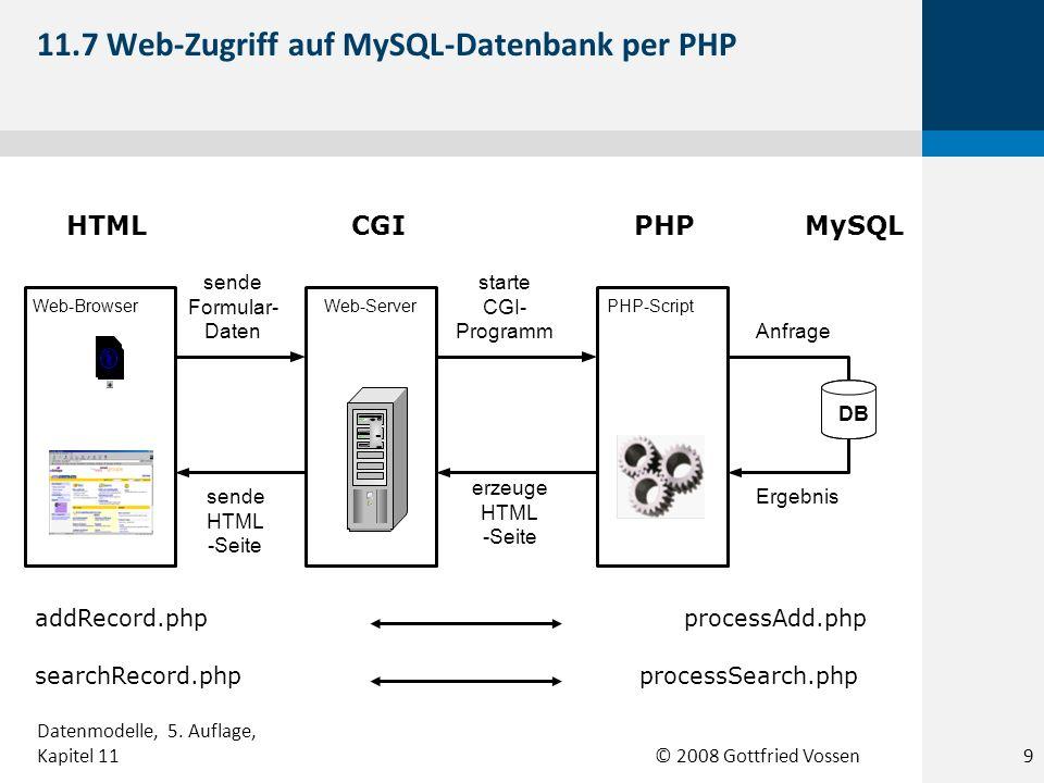 11.7 Web-Zugriff auf MySQL-Datenbank per PHP