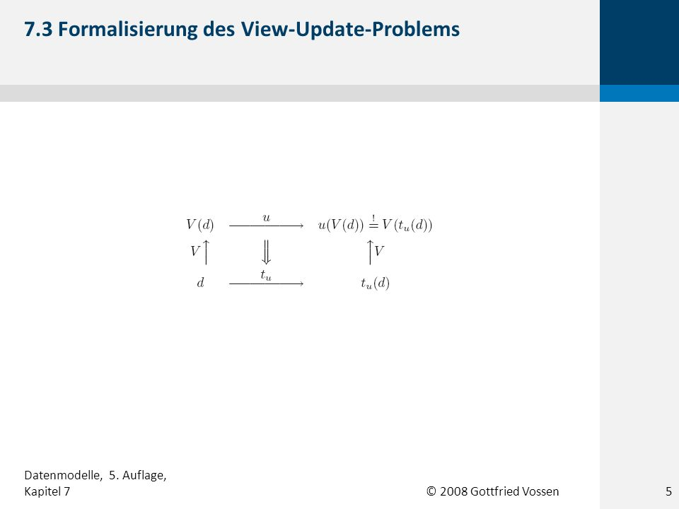 7.3 Formalisierung des View-Update-Problems