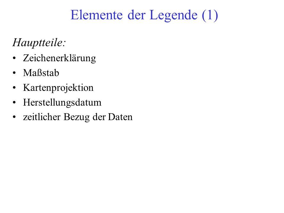 Elemente der Legende (1)