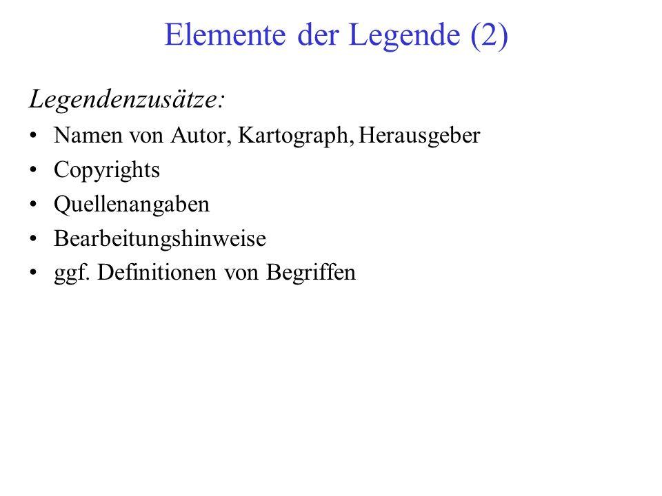 Elemente der Legende (2)