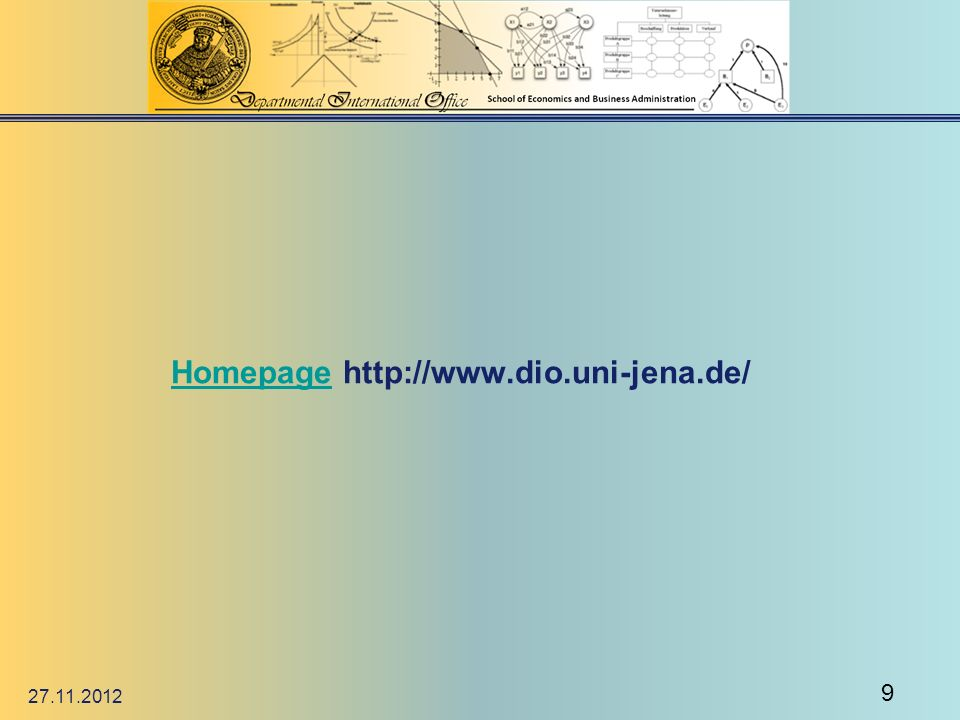 Homepage http://www.dio.uni-jena.de/