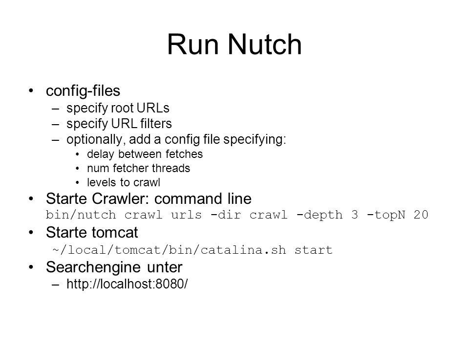 Run Nutch config-files
