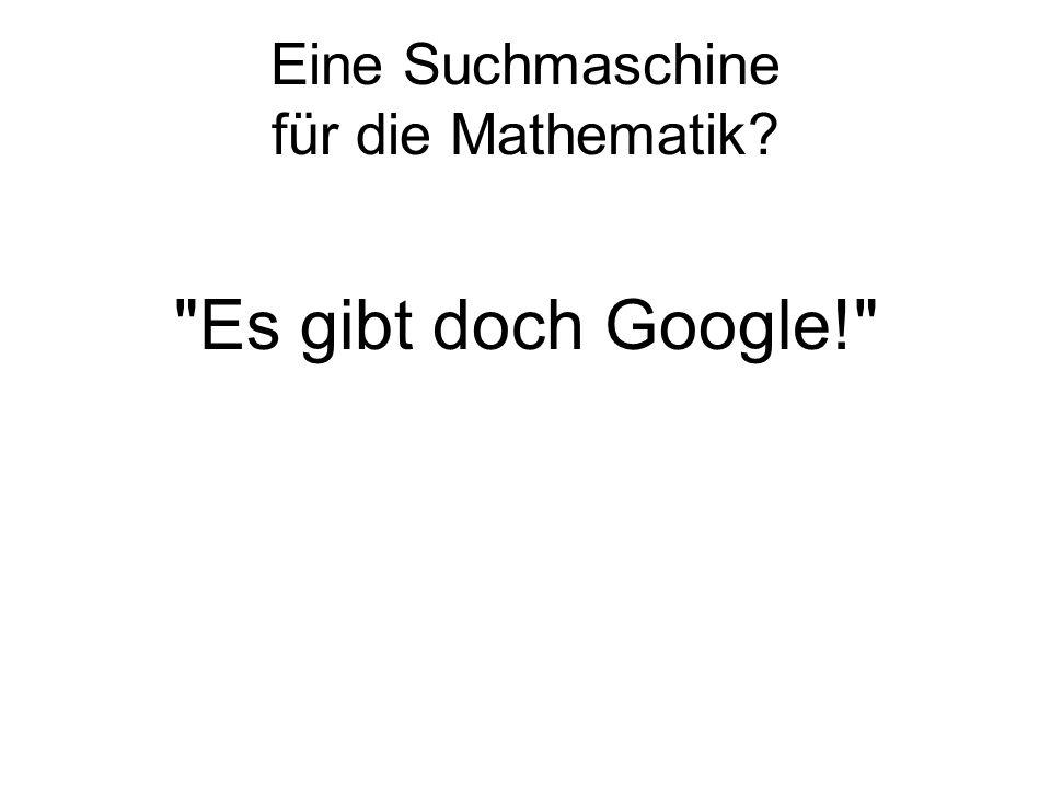 Eine Suchmaschine für die Mathematik