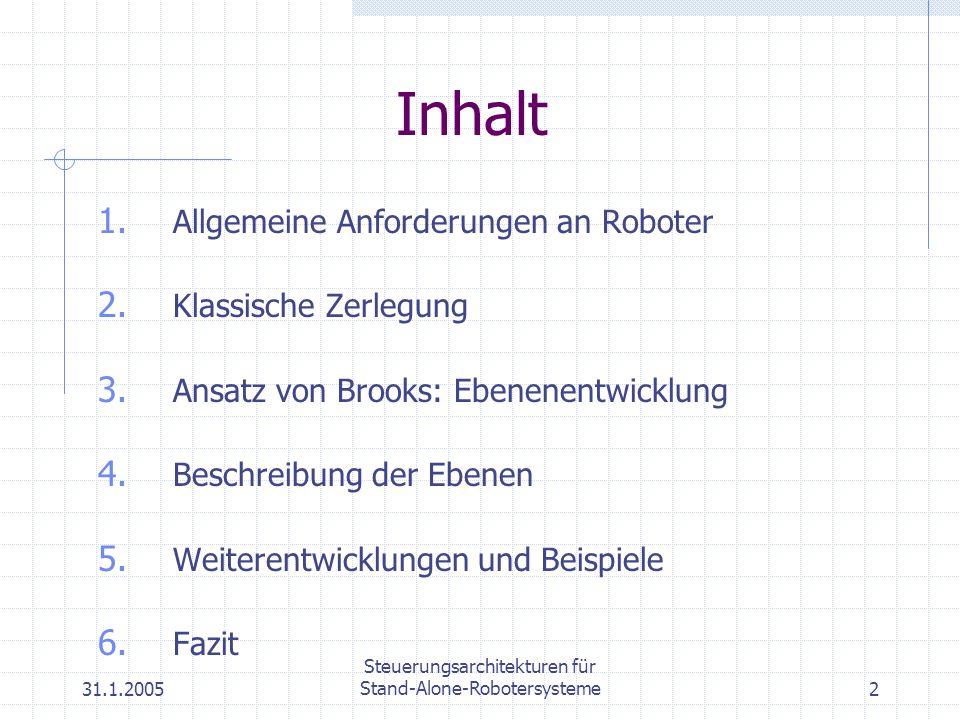 Steuerungsarchitekturen für Stand-Alone-Robotersysteme