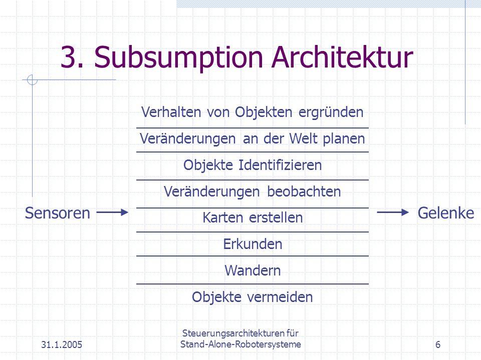 3. Subsumption Architektur