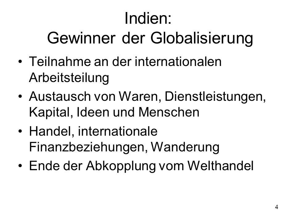 Indien: Gewinner der Globalisierung
