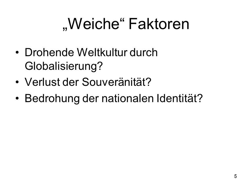 """""""Weiche Faktoren Drohende Weltkultur durch Globalisierung"""