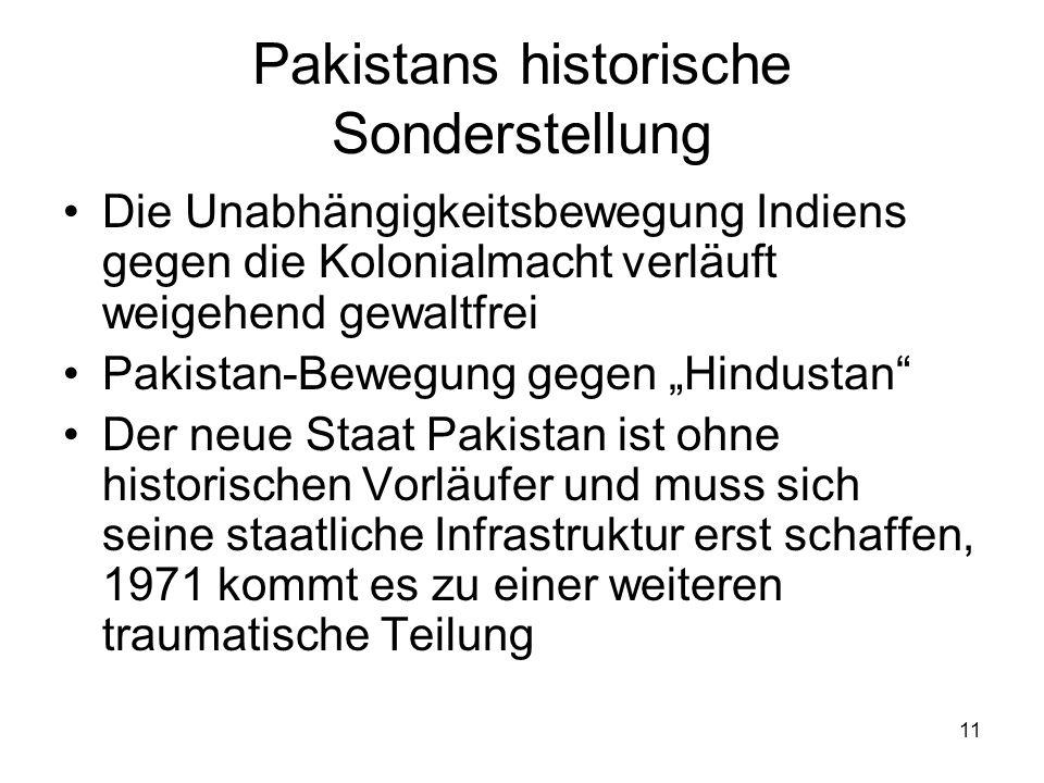 Pakistans historische Sonderstellung
