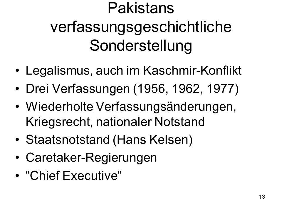 Pakistans verfassungsgeschichtliche Sonderstellung