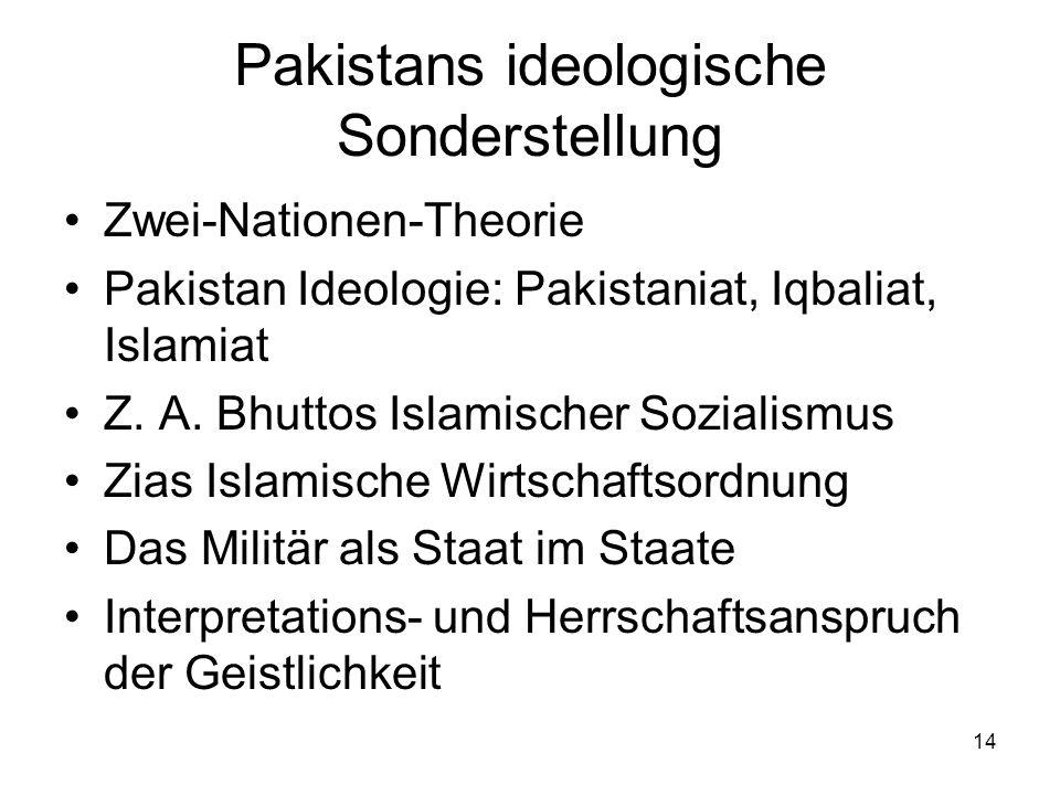 Pakistans ideologische Sonderstellung