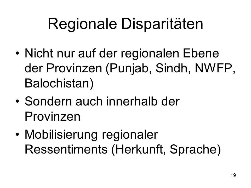 Regionale Disparitäten