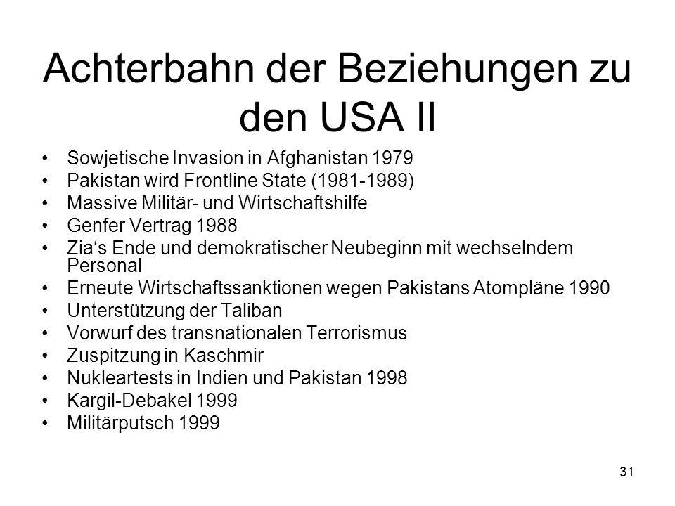 Achterbahn der Beziehungen zu den USA II