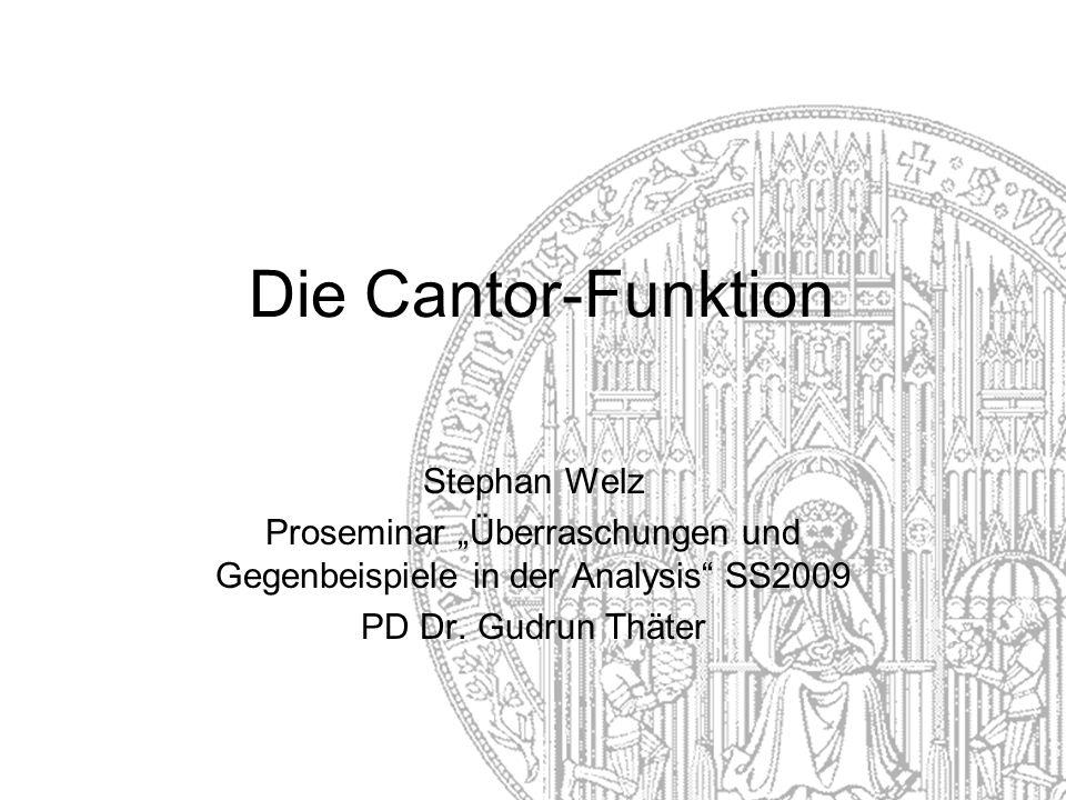 """Proseminar """"Überraschungen und Gegenbeispiele in der Analysis SS2009"""