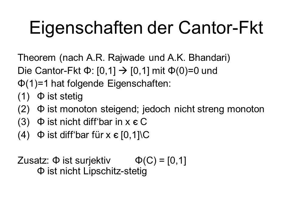 Eigenschaften der Cantor-Fkt