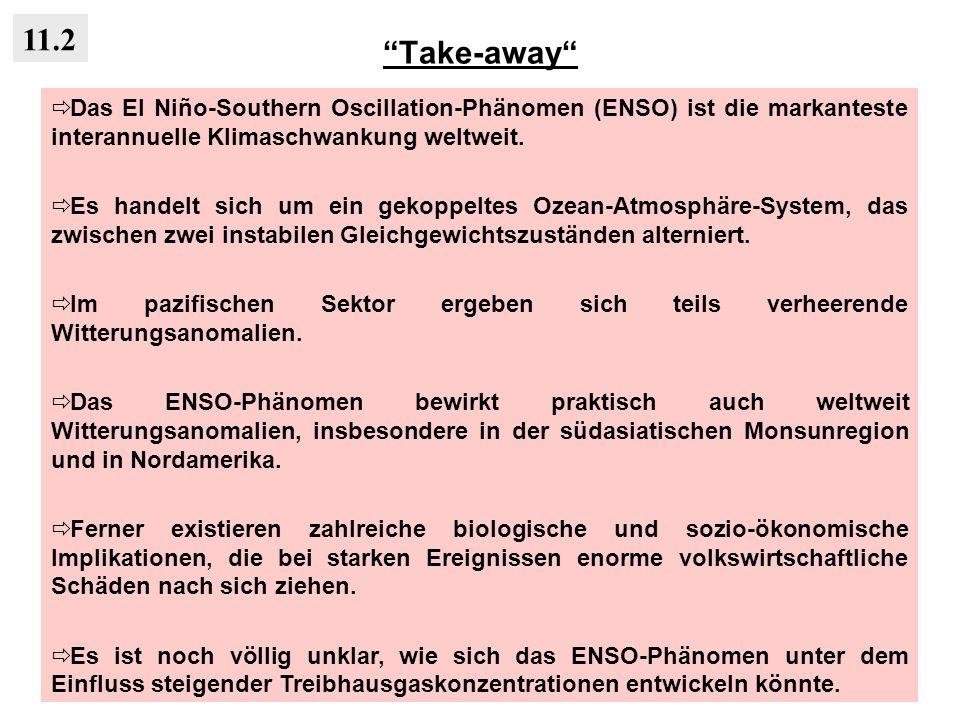 Take-away 11.2. Das El Niño-Southern Oscillation-Phänomen (ENSO) ist die markanteste interannuelle Klimaschwankung weltweit.