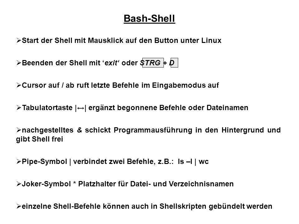 Bash-Shell Start der Shell mit Mausklick auf den Button unter Linux