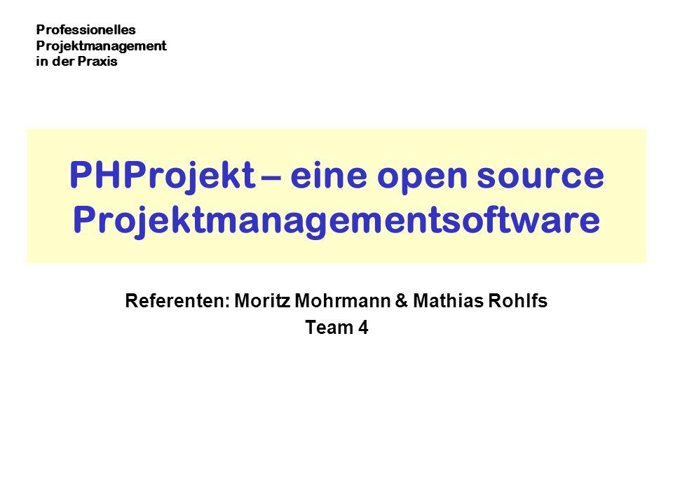 PHProjekt – eine open source Projektmanagementsoftware