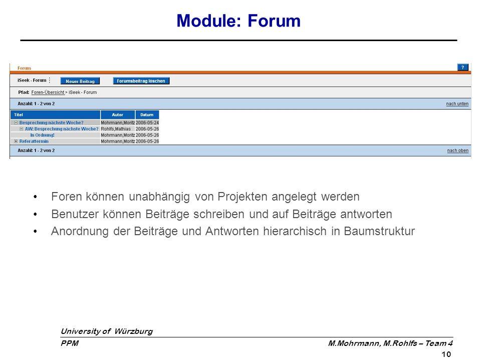 Module: Forum Foren können unabhängig von Projekten angelegt werden
