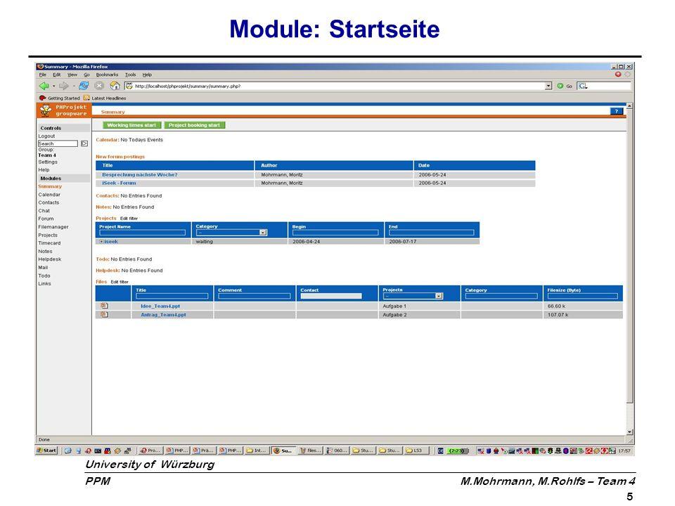Module: Startseite