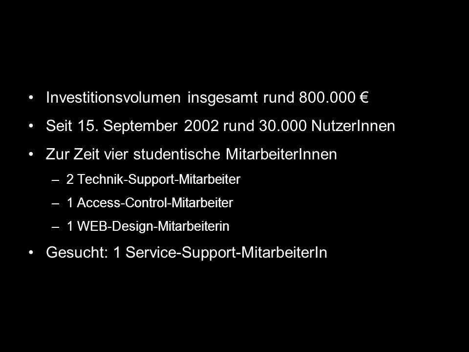 Investitionsvolumen insgesamt rund 800.000 €