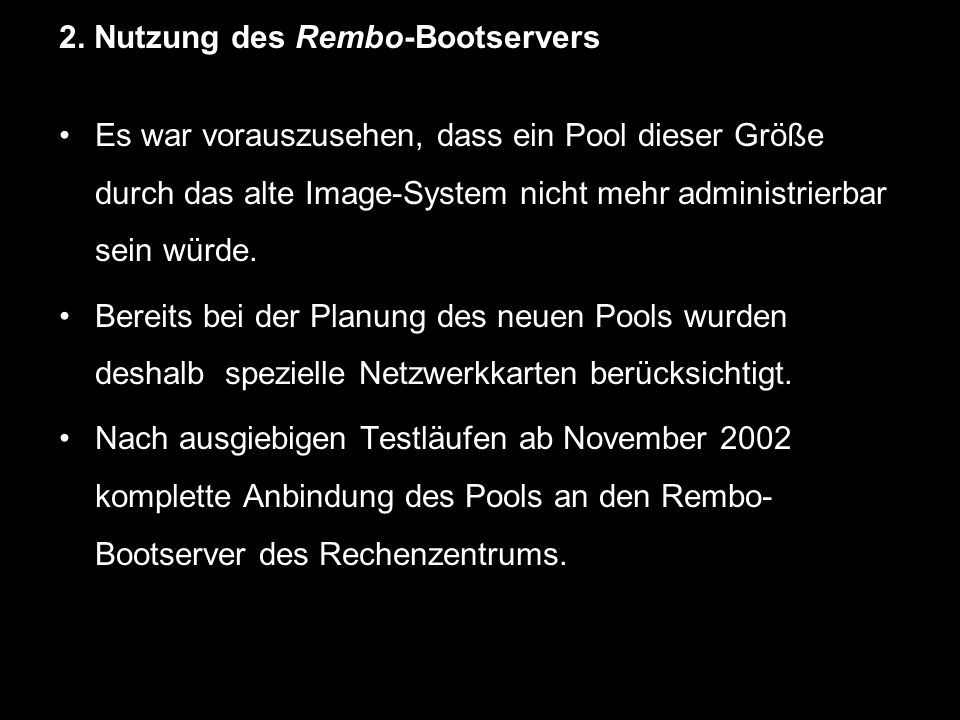 2. Nutzung des Rembo-Bootservers