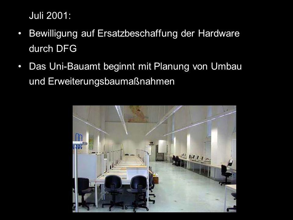 Bewilligung auf Ersatzbeschaffung der Hardware durch DFG