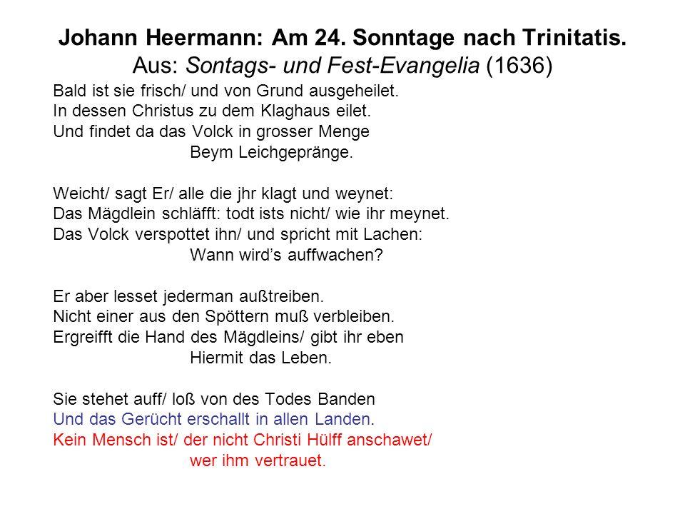 Johann Heermann: Am 24. Sonntage nach Trinitatis