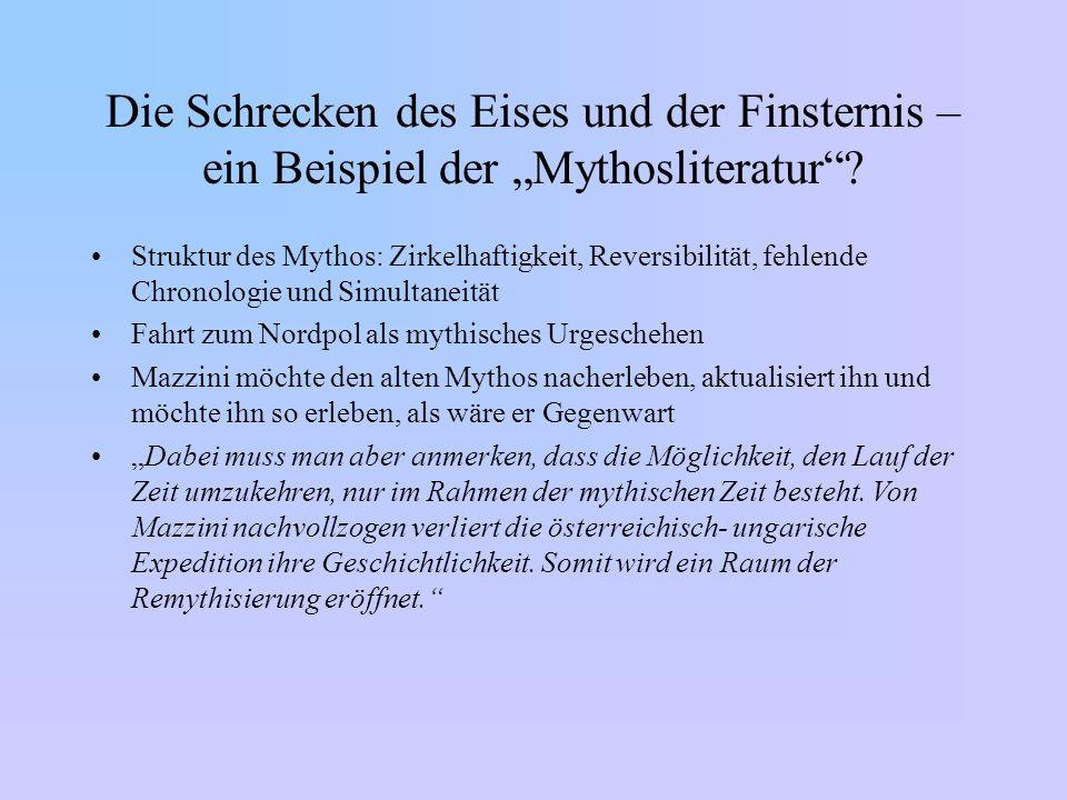 """Die Schrecken des Eises und der Finsternis – ein Beispiel der """"Mythosliteratur"""