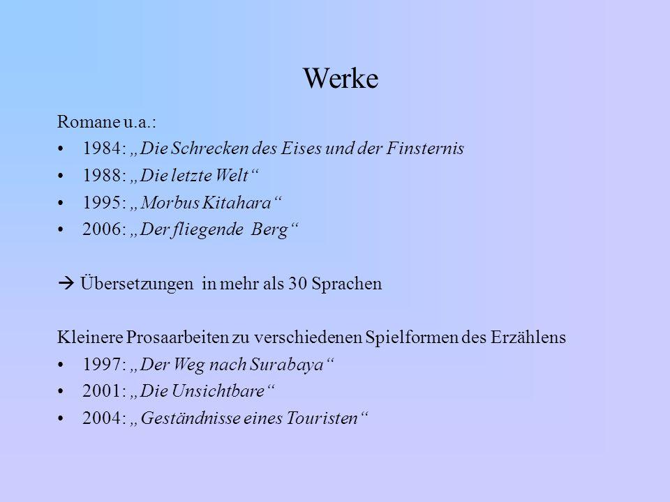 """Werke Romane u.a.: 1984: """"Die Schrecken des Eises und der Finsternis"""