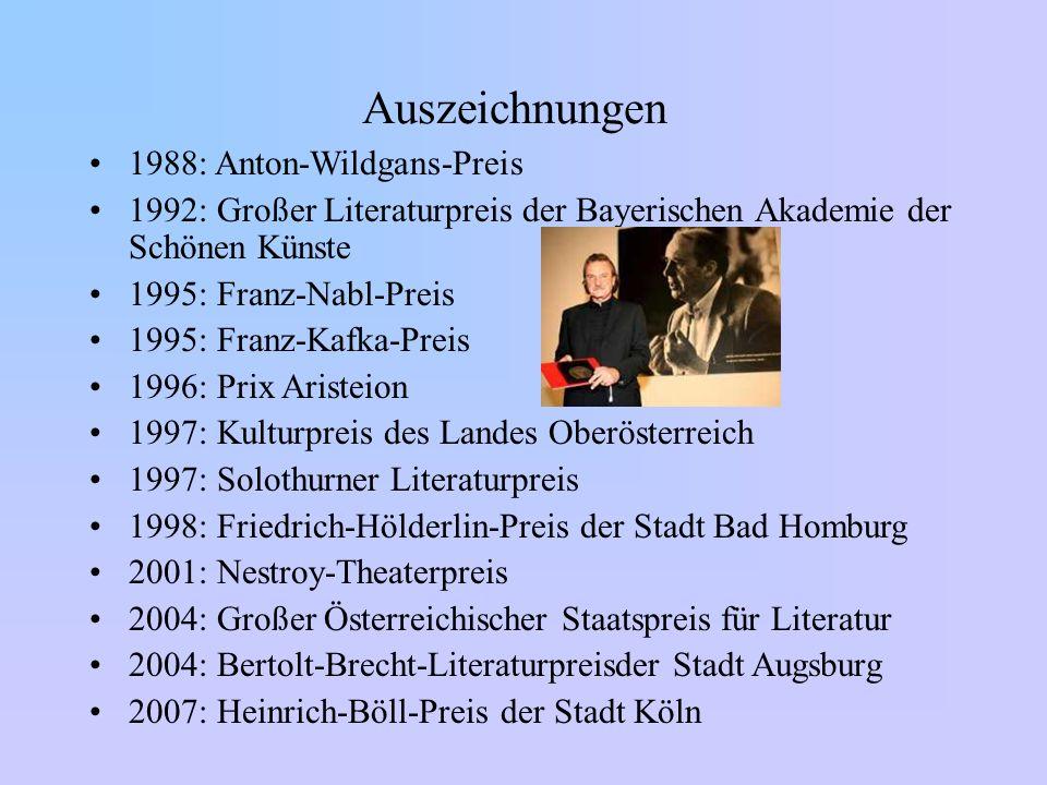 Auszeichnungen 1988: Anton-Wildgans-Preis