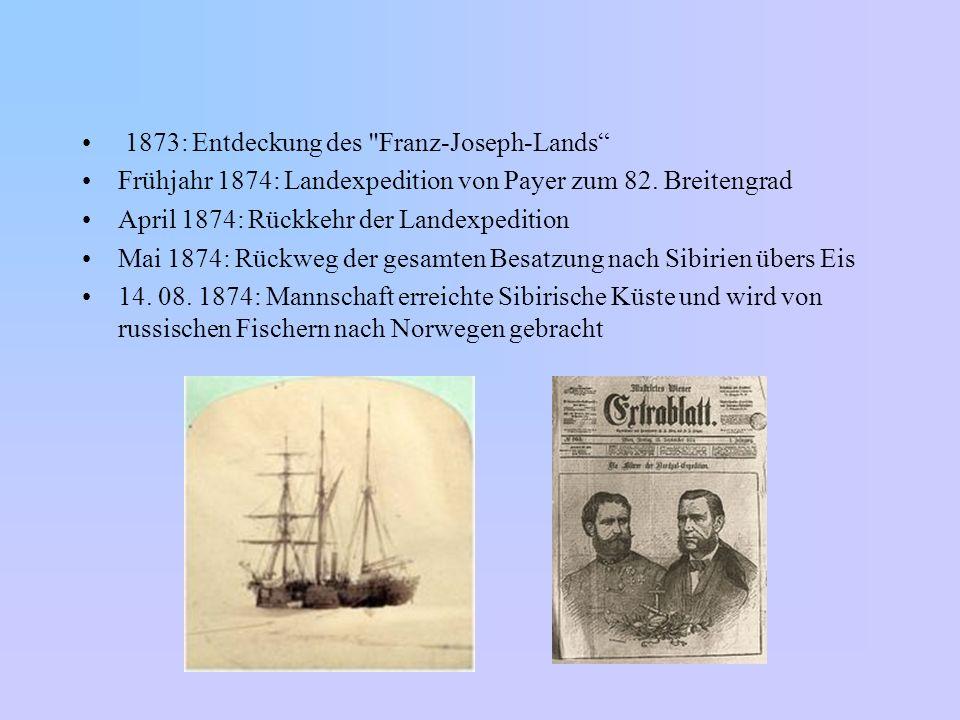 1873: Entdeckung des Franz-Joseph-Lands