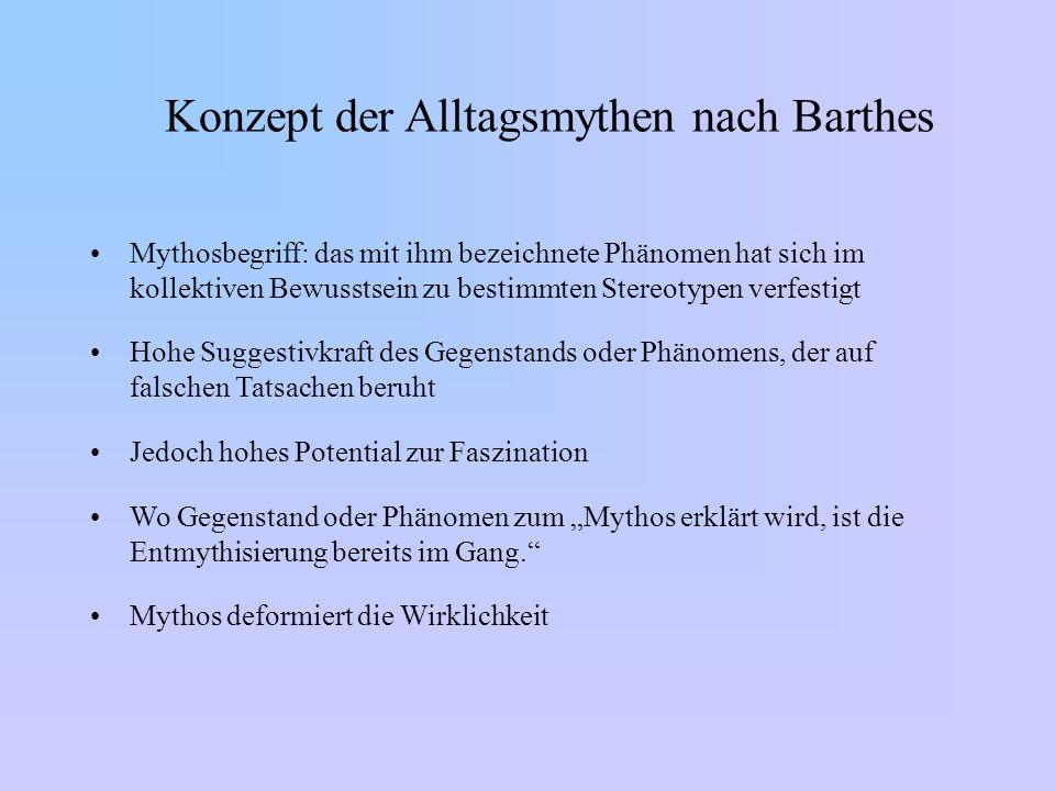 Konzept der Alltagsmythen nach Barthes