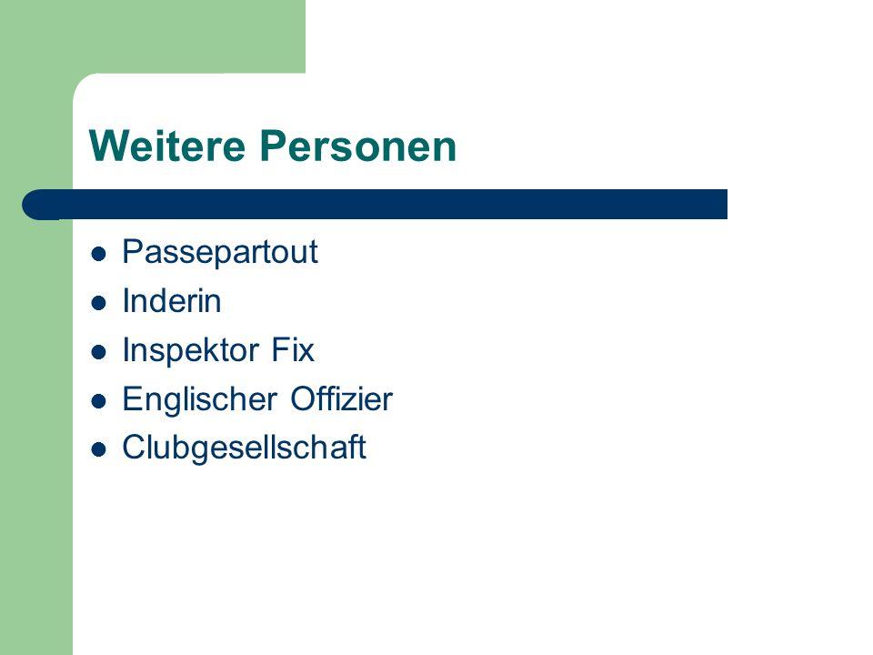 Weitere Personen Passepartout Inderin Inspektor Fix