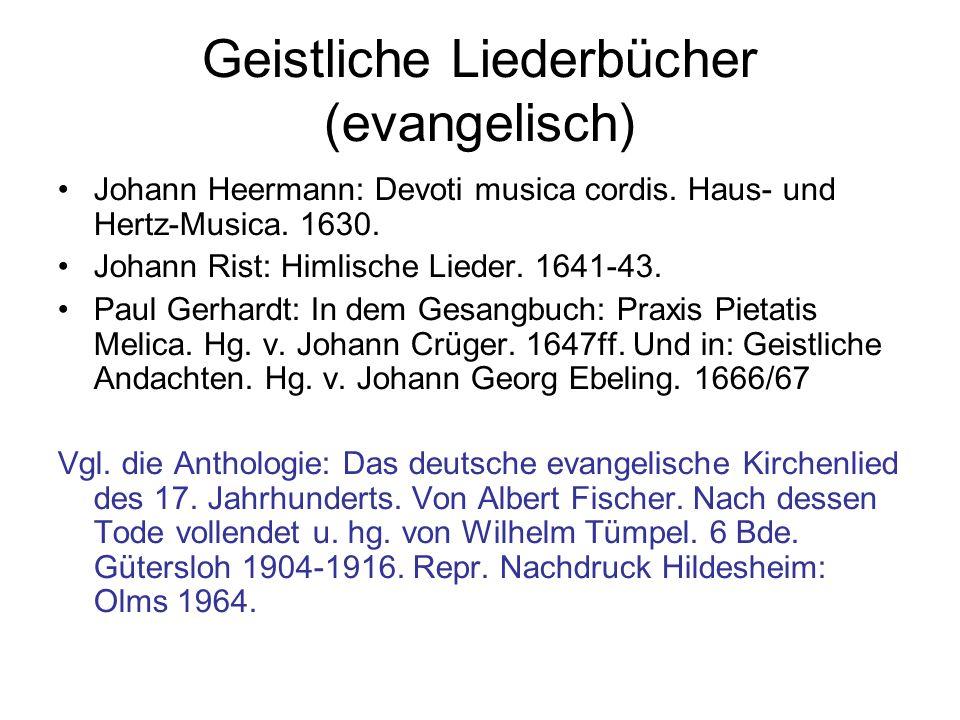 Geistliche Liederbücher (evangelisch)