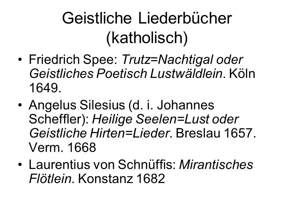 Geistliche Liederbücher (katholisch)