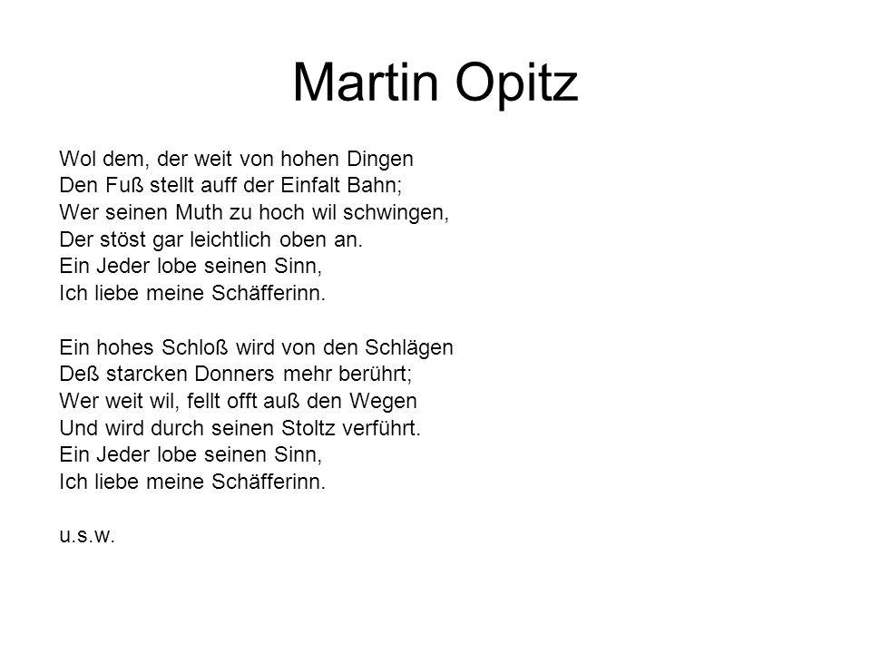 Martin Opitz Wol dem, der weit von hohen Dingen