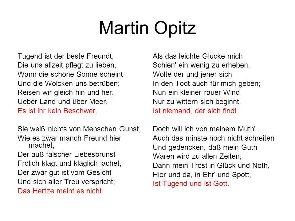 Martin Opitz Tugend ist der beste Freundt,